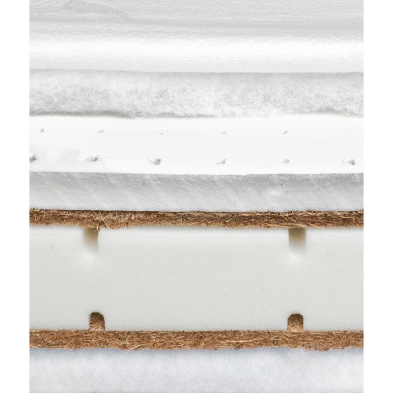 Saltea Sensillo latex-cocos-spuma-cocos cu Aloe Vera 140x70x12 cm