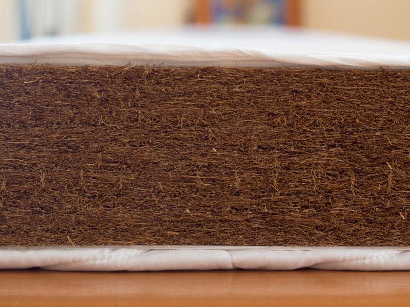Saltea fibra de Cocos Integral 120x60x8 husa alba