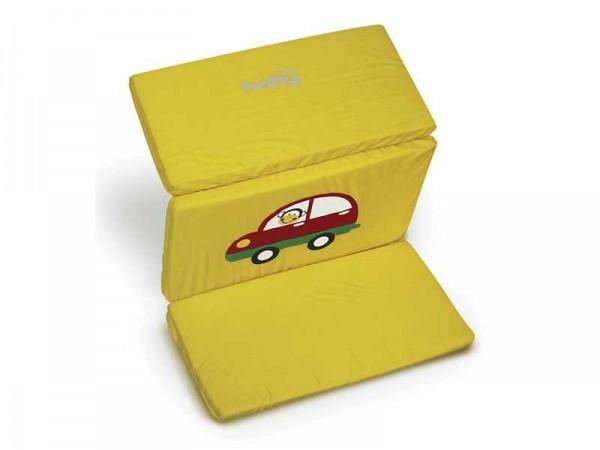 Saltea pliabila cu geanta de transport in doua culori Just Baby galben