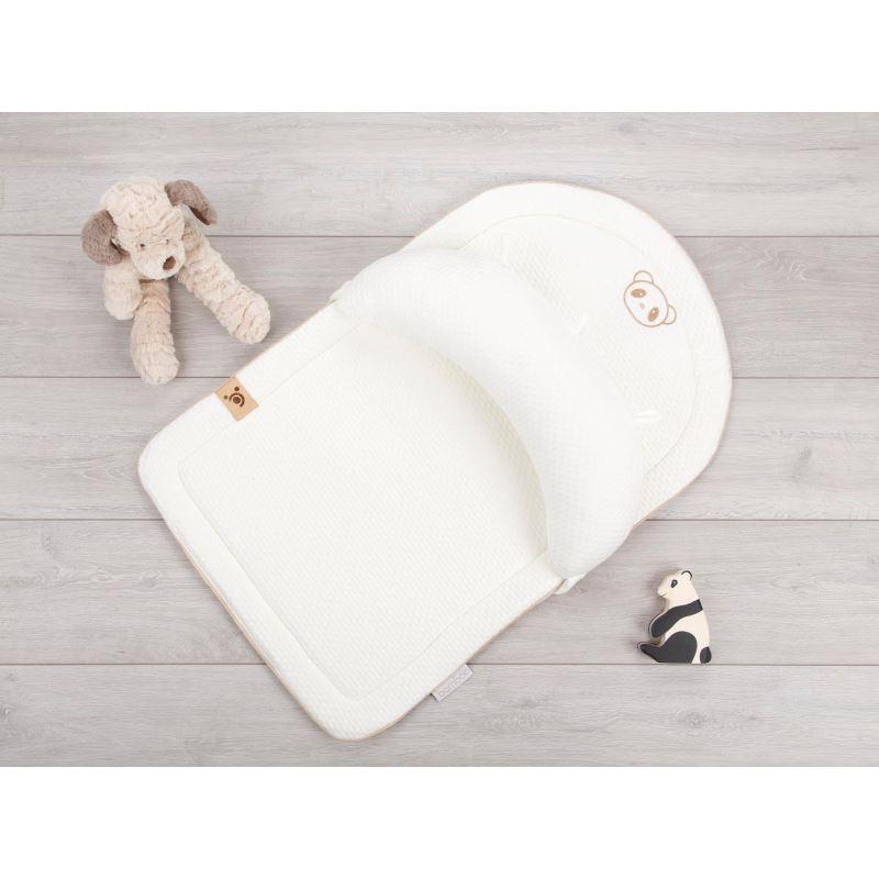 Salteluta de joaca pentru bebelusi din spuma cu memorie si cu husa din bambus