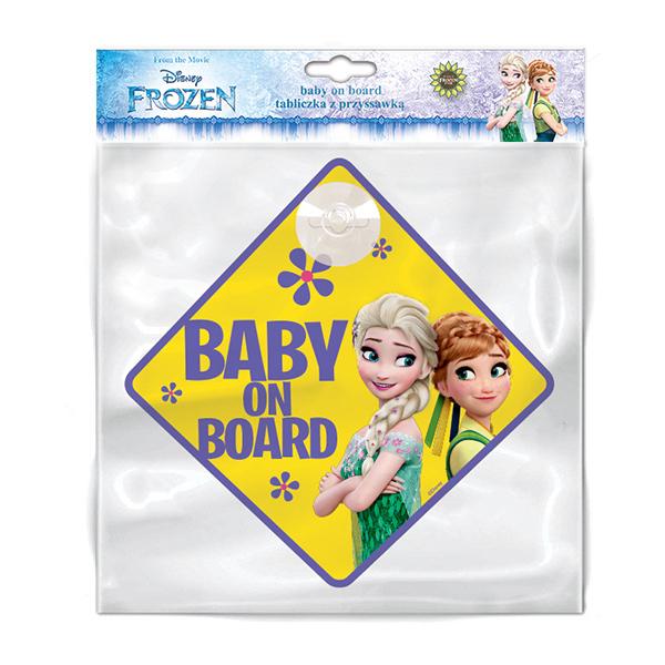 Semn de avertizare Baby on Board Frozen Seven SV9611