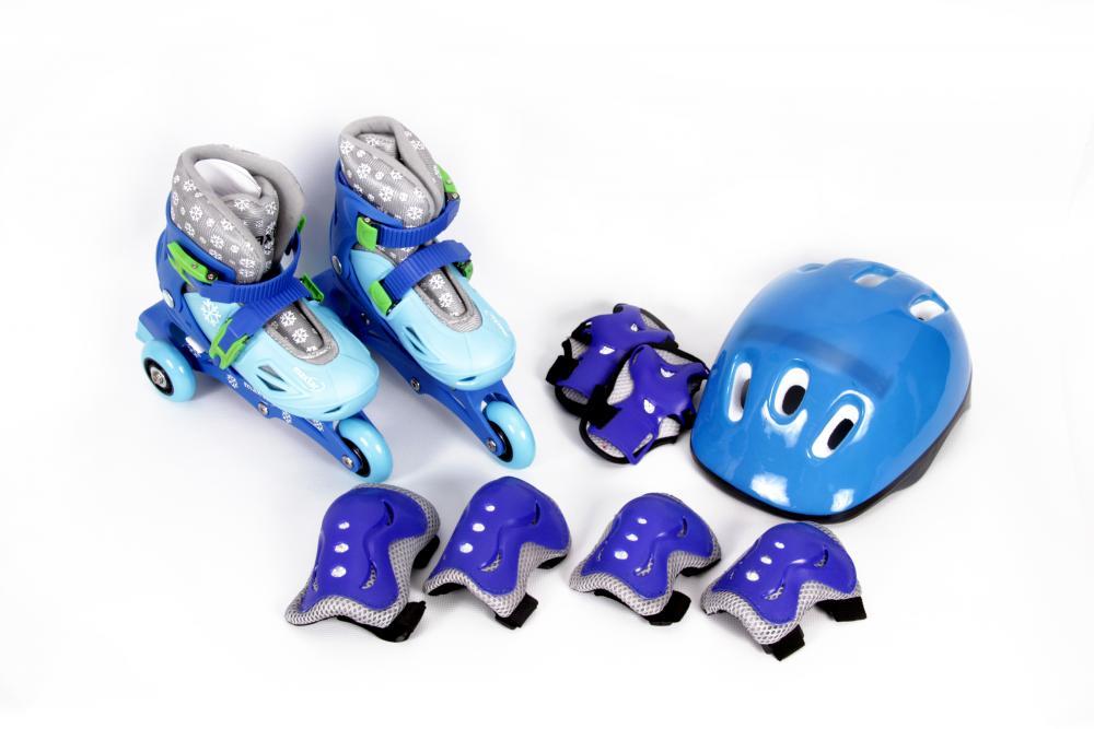 Set de role cu casca si protectii Maxtar 26-29 Albastru