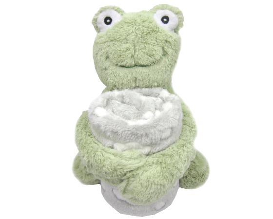 Set paturica si jucarie din plus Broscuta Froggy