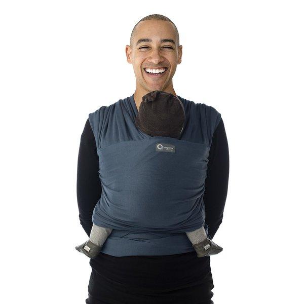 Sistem de purtare wrap elastic Tricot Slen Organic Babylonia Blue Jeans