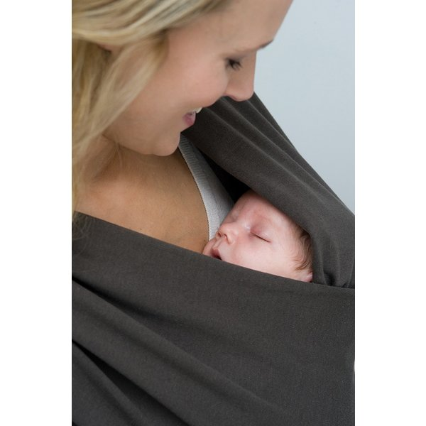 Sistem de purtare wrap elastic Tricot Slen Organic Babylonia Dark Grey