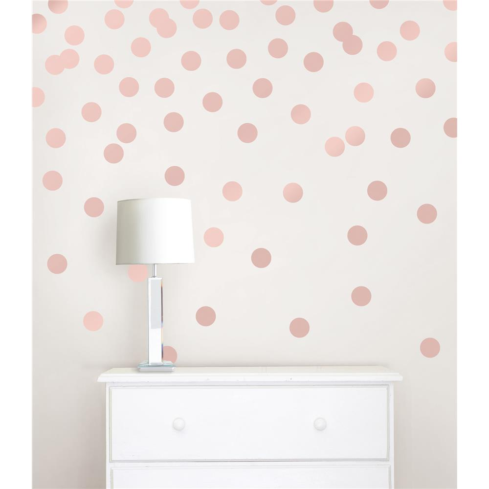 Stickere decorative confetti WallPops Rose gold
