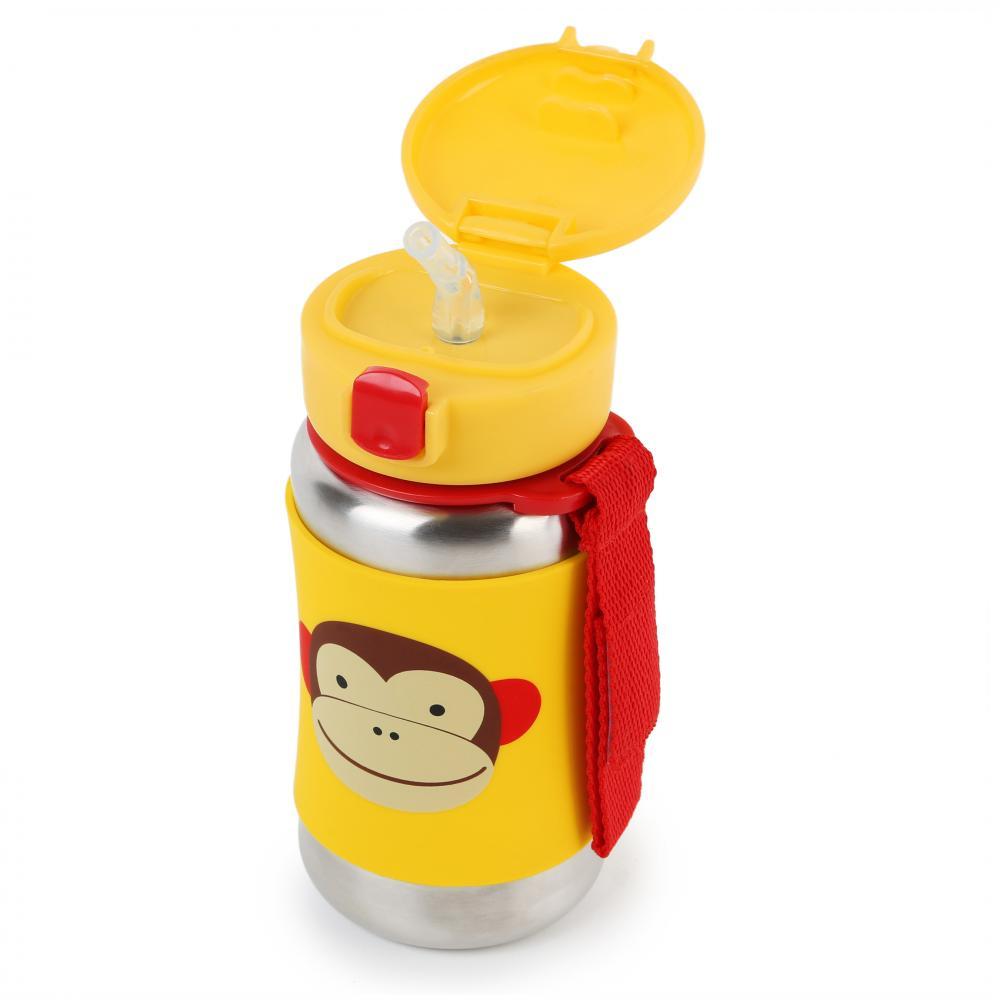 Sticla din otel inoxidabil cu pai Zoo Monkey imagine