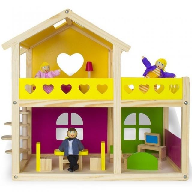 Casa cu Papusi Mobilata Tooky Toy