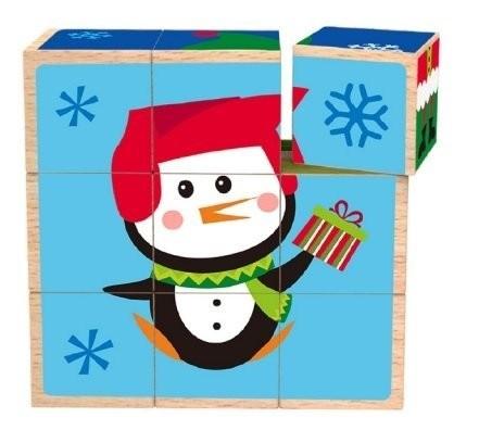 Cuburi Puzzle Craciun Tooky Toy
