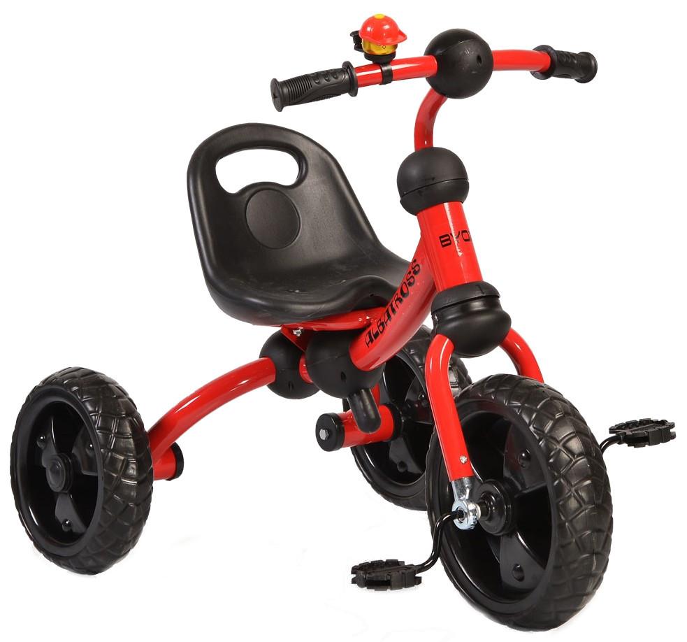 Tricicleta cu roti din cauciuc Albatross Red