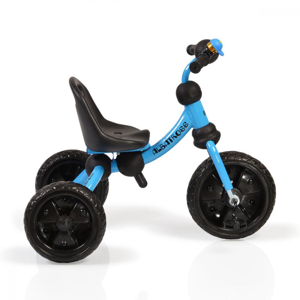 Tricicleta cu roti din cauciuc Albatross Blue