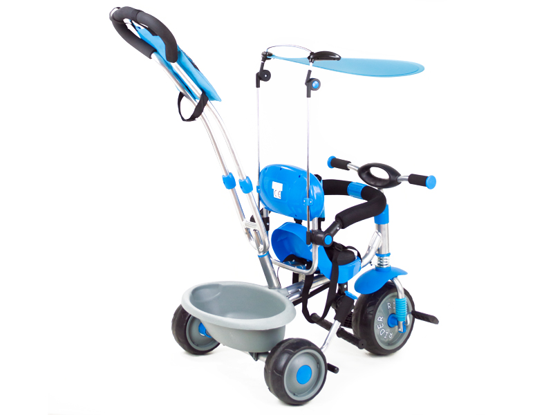 Tricicleta pentru copii Rider A908-1 albastru imagine