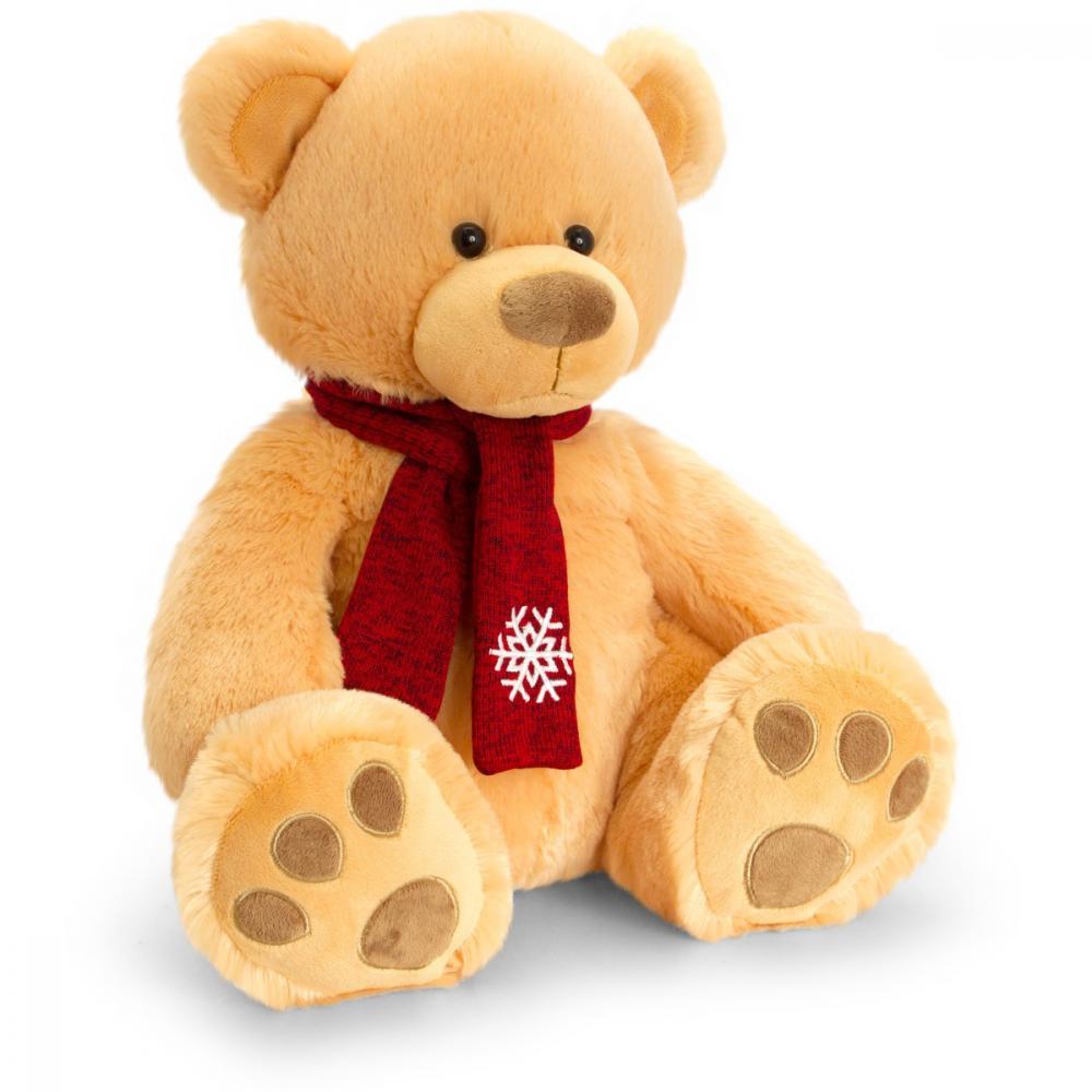 Ursulet de plus cu fular Pudding Bear 20 cm - Bej
