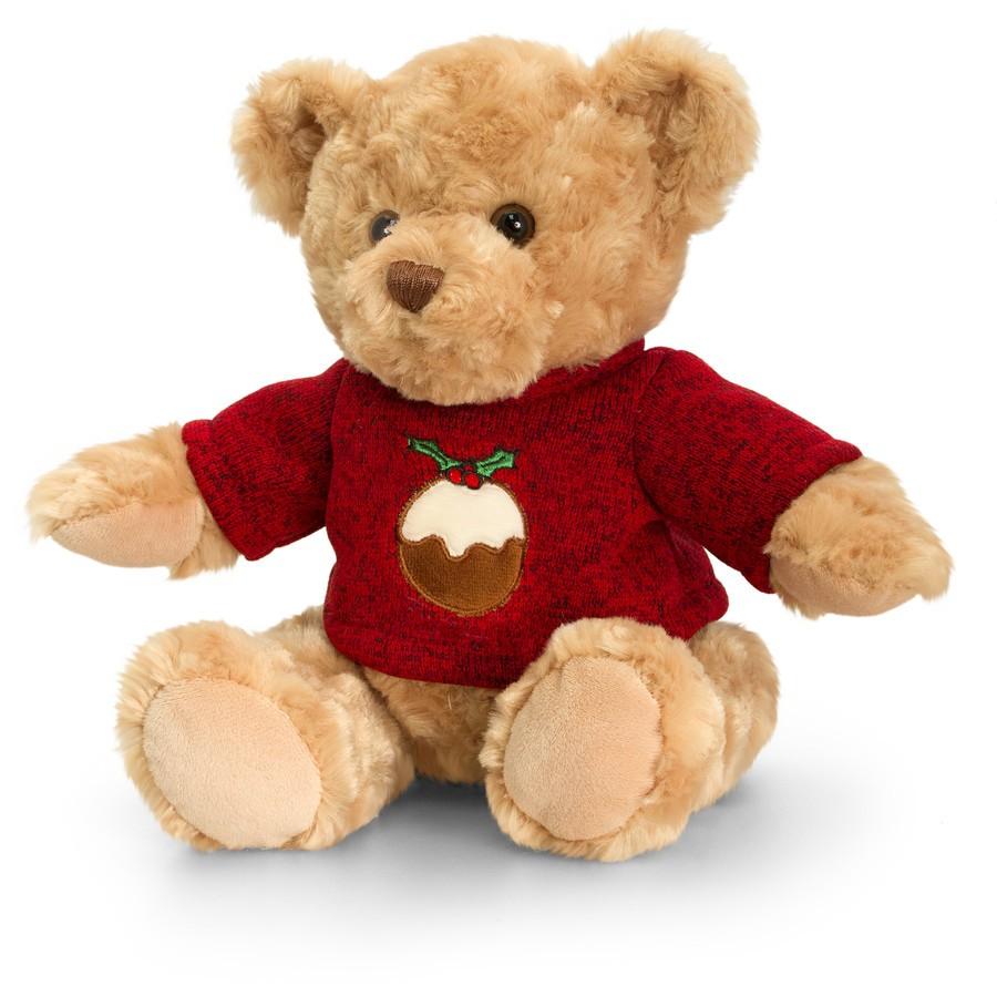 Ursulet de plus cu pulover 20 cm Christmas Pip the Bear