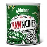 Chips Crawnchies cu spanac si usturoi raw bio 30g