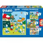 Puzzle Progresiv The Smurfs