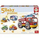 Puzzle baby vehicule