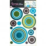 Sticker de perete Room Decor  cercuri colorate 69x42cm