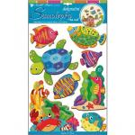 Sticker de perete 3D Room Decor Animale din ocean 50x30 cm
