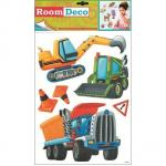 Sticker de perete Room Decor masinute de munca 42x25cm