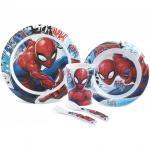 Set pentru masa melamina 5 piese Spider-Man Lulabi 7939700