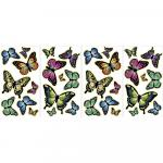 Stickere decorative fosforescente cu fluturasi WallPops Butterflies Glow in the dark