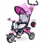 Tricicleta pentru copii cu scaun reversibil Toyz Timmy Pink