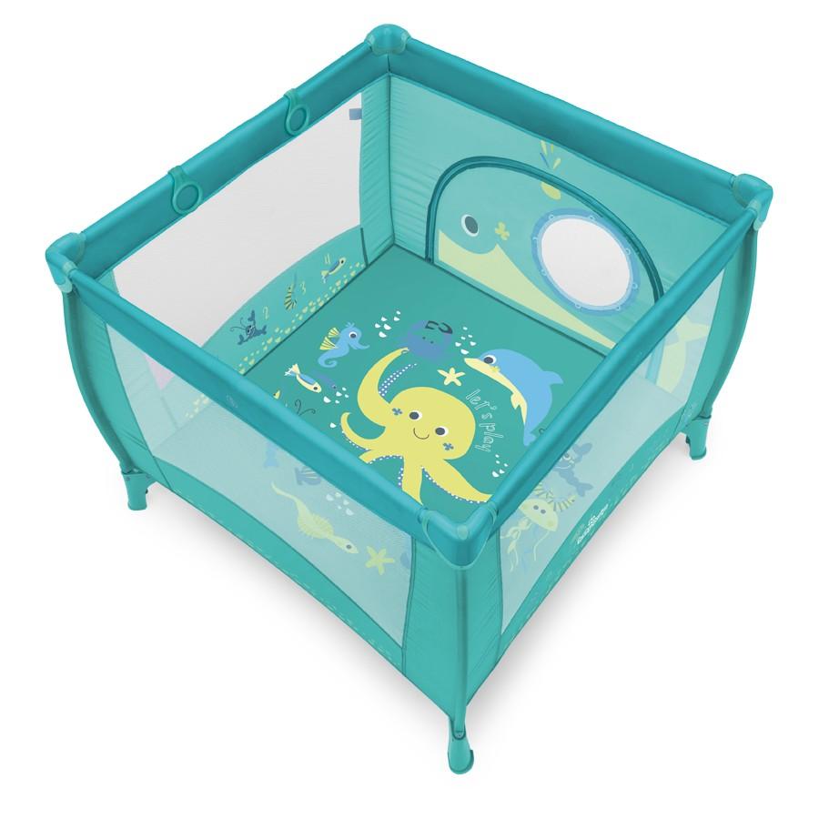 Tarc de joaca cu inele ajutatoare Baby Design Play UP 05 Turqouise 2018