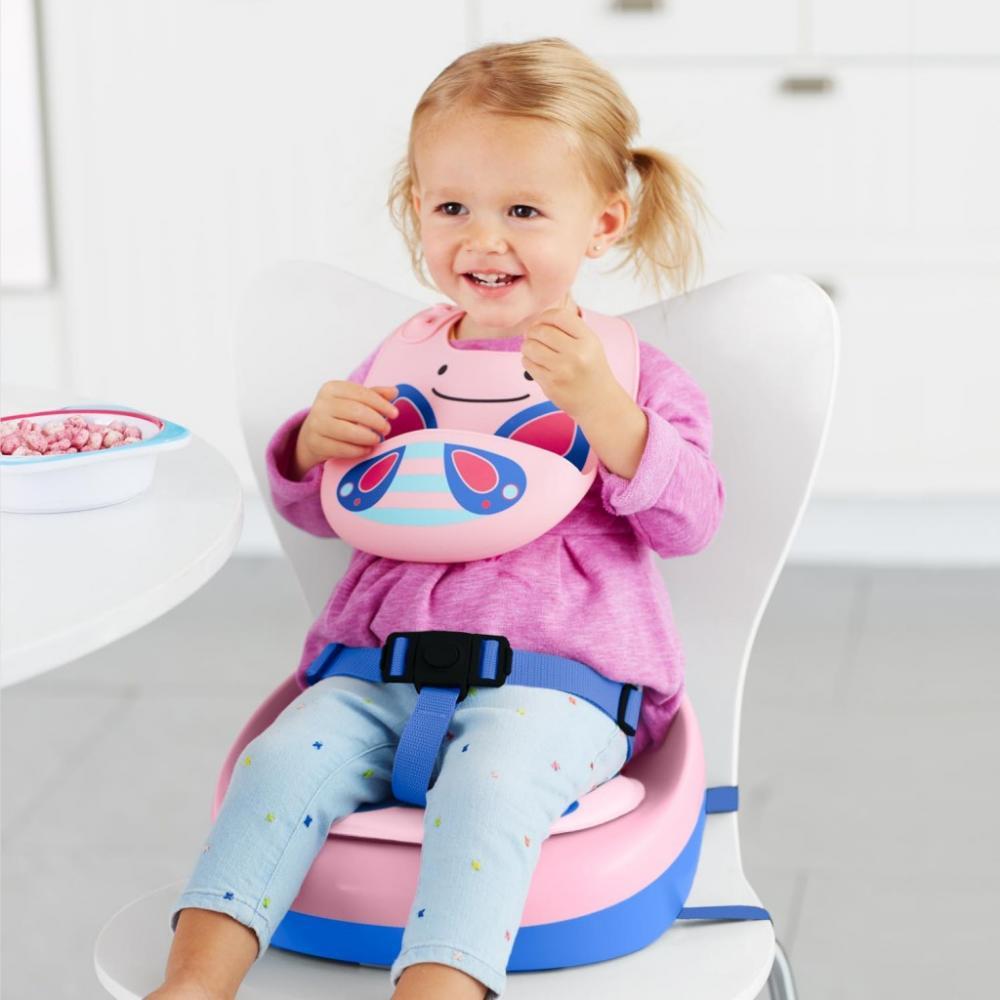 Bavetica din silicon pentru bebe Skip Hop Fluturas