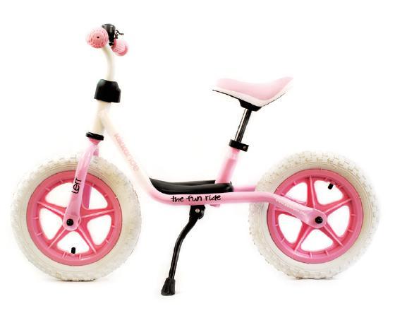 Bicicleta fara pedale Lerr WhitePink