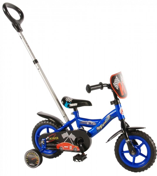 Bicicleta penru baieti 10 inch cu roti ajutatoare Volare Yipeeh