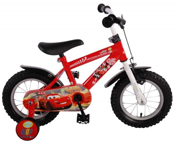 Bicicleta pentru baieti 10 inch cu maner si roti ajutatoare Cars