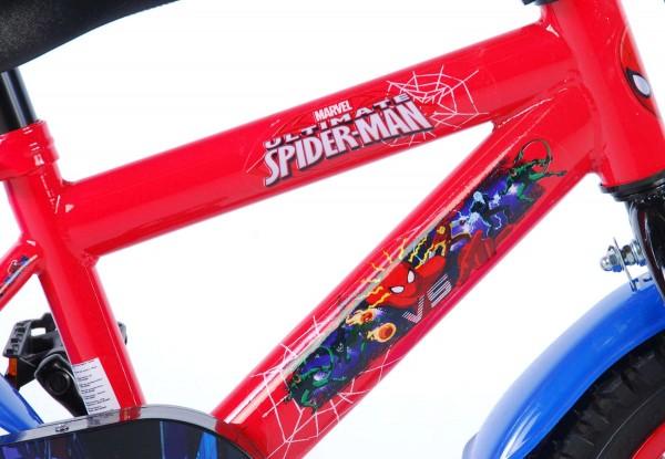 Bicicleta pentru baieti 12 inch cu roti ajutatoare Spiderman