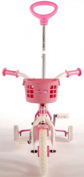 Bicicleta pentru fete 10 inch cu roti ajutatoare si cosulet Volare Yipeeh