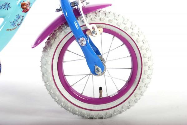 Bicicleta pentru fete 12 inch cu scaun pentru papusi roti ajutatoare si cosulet Frozen