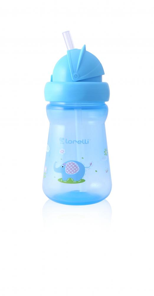 Cana mini sport cu pai 200 ml Animals Blue