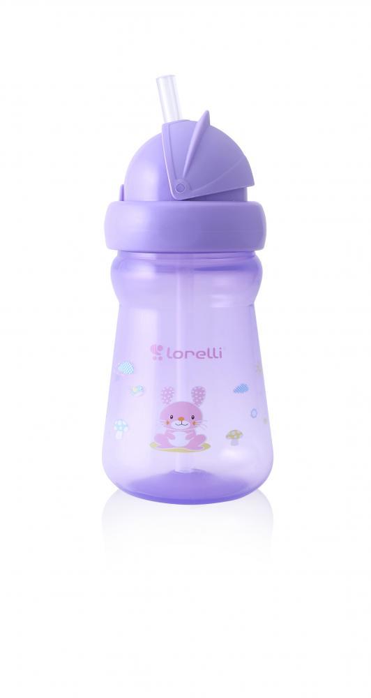 Cana mini sport cu pai 200 ml Animals Violet