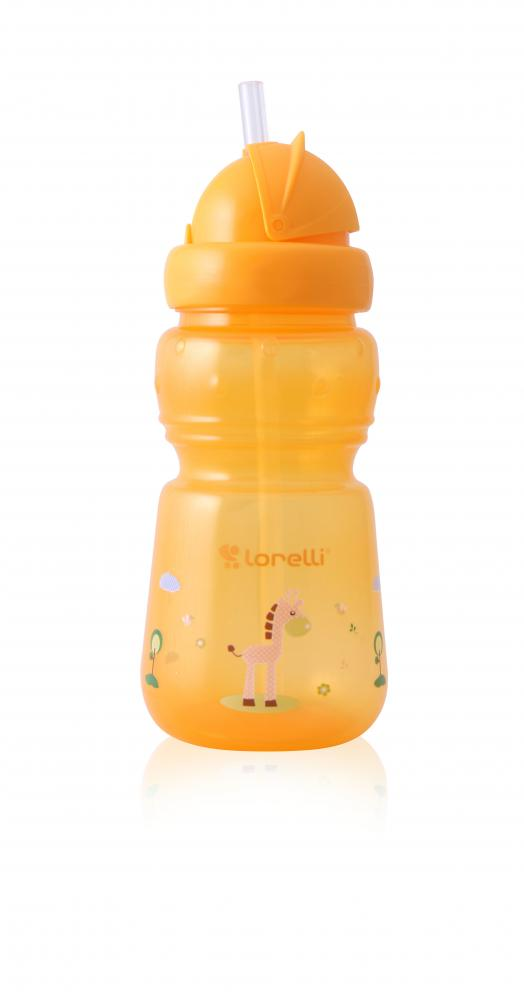 Cana sport cu pai 325 ml Animals Yellow