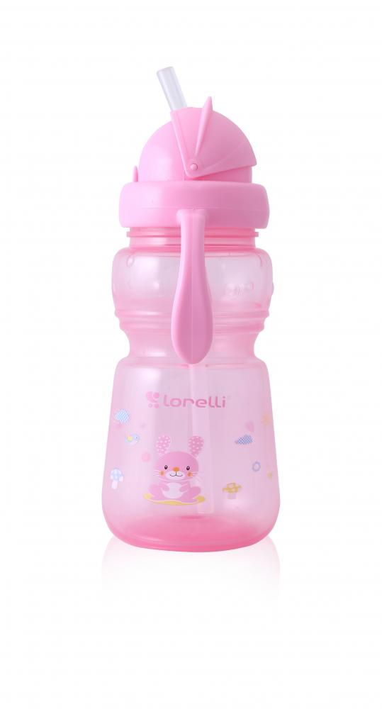 Cana sport cu pai si manere 325 ml Animals Pink