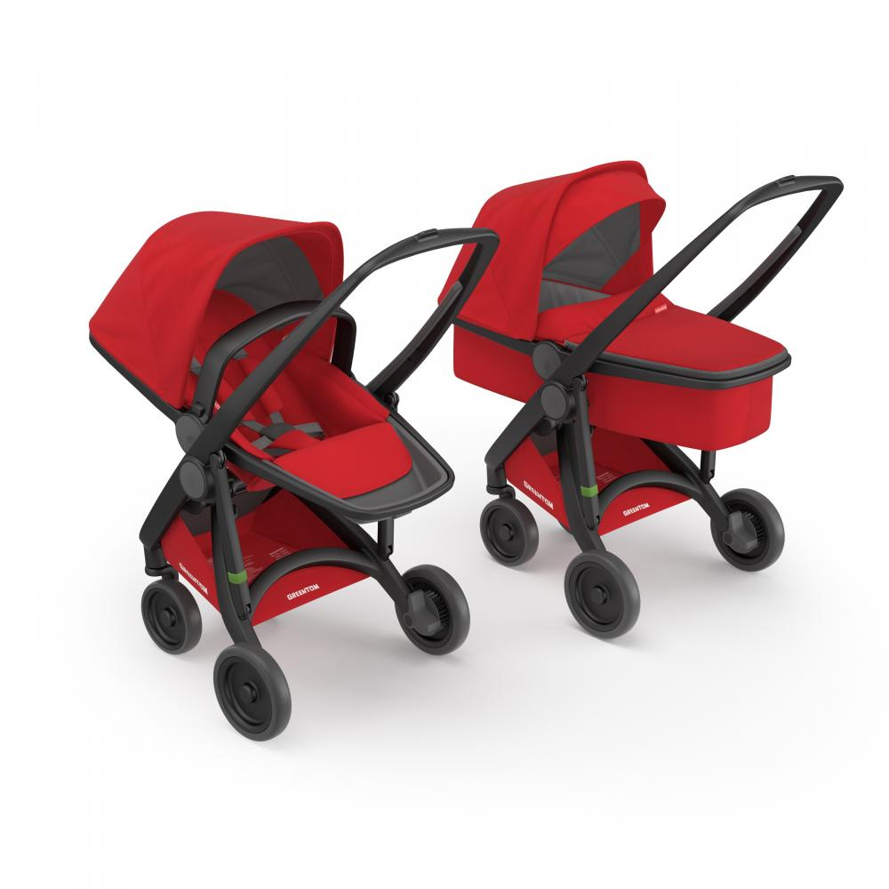Carucior 2 In 1 Black Red 100 Ecologic