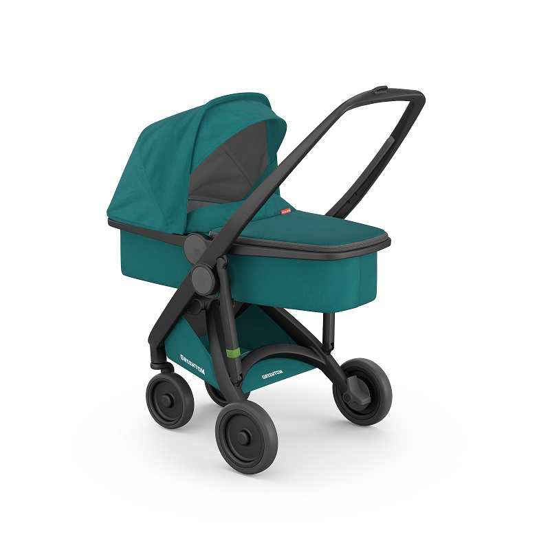Carucior 2 In 1 Black Teal 100 Ecologic