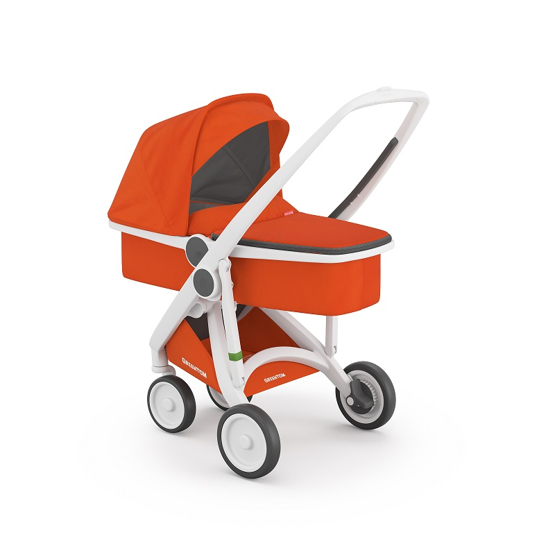 Carucior 2 In 1 White Orange 100 Ecologic