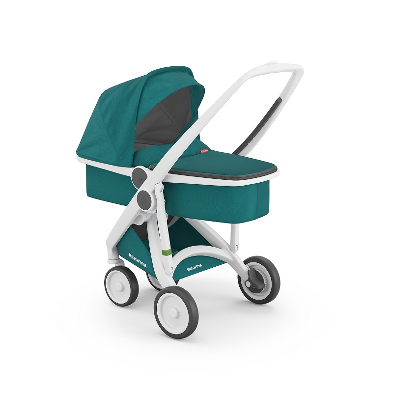 Carucior 2 In 1 White Teal 100 Ecologic