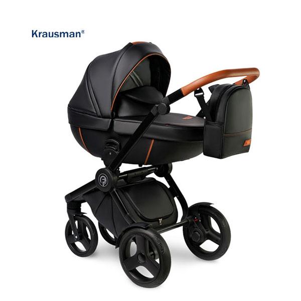 KRAUSMAN Carucior 3 in 1 Topaz Lux Black