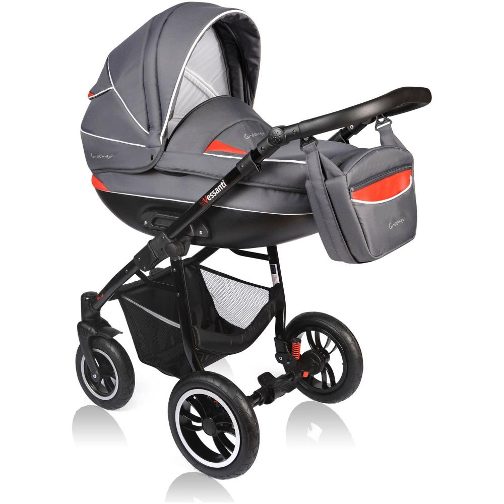 Carucior Crooner 2 in 1 Vessanti RedGray