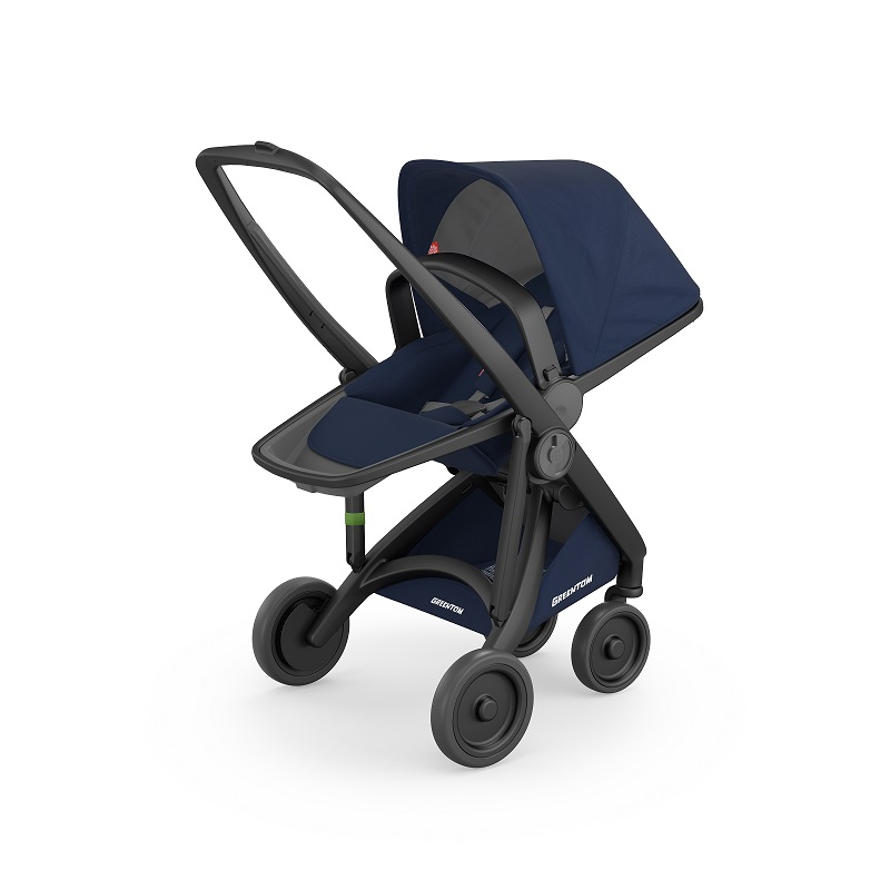 Carucior Reversible 100 Ecologic Black Blue imagine