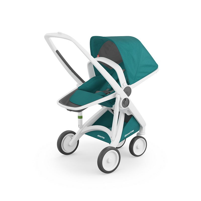 Carucior Reversible 100 Ecologic White Teal imagine