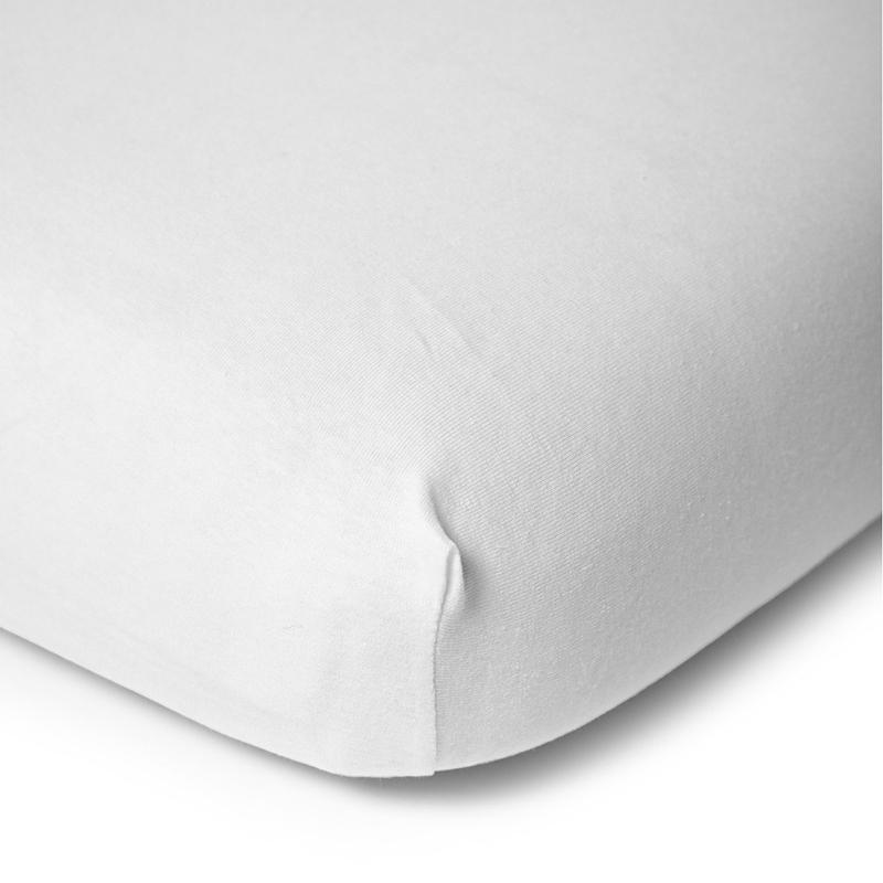 Cearsaf alb cu elastic pentru patut bebe 120x60 cm