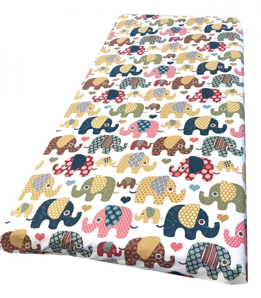 Cearsaf cu elastic roata 120x60 cm Elefantei