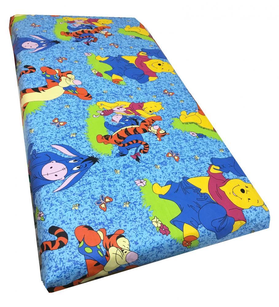 Cearsaf cu elastic roata 140x70 cm Distractie cu Aiurila albastru